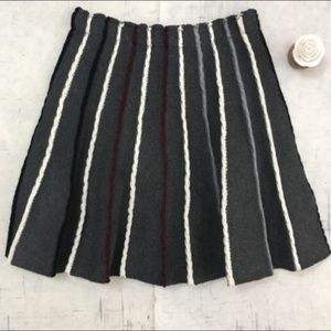 Anthropologie Eri & Ali knit circle skirt